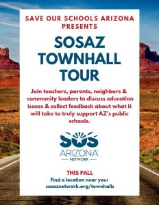 Townhall Tour - Join teachers, parents, neighbors & community leaders to discuss education issues & collect feedback about what it will take to truly support AZ's public schools.